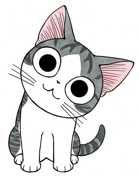 dessin manga chat
