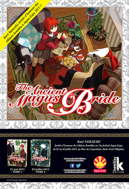 [ANIME/MANGA/OAV] The Ancient Magus Bride (Mahoutsukai no Yome) ~ Kore-Yamazaki-invitee-Komikku-Japan-Expo-PRESSE