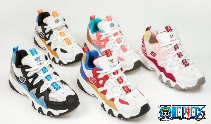 Produits dérivés La collection de chaussures Skechers X One Piece débarque  en Europe