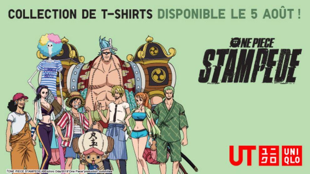 Une collection de t-shirts One Piece Stampede chez Uniqlo