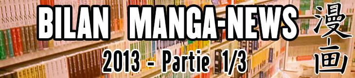 Dossier manga - Bilan Manga-News 2013 - Partie 1