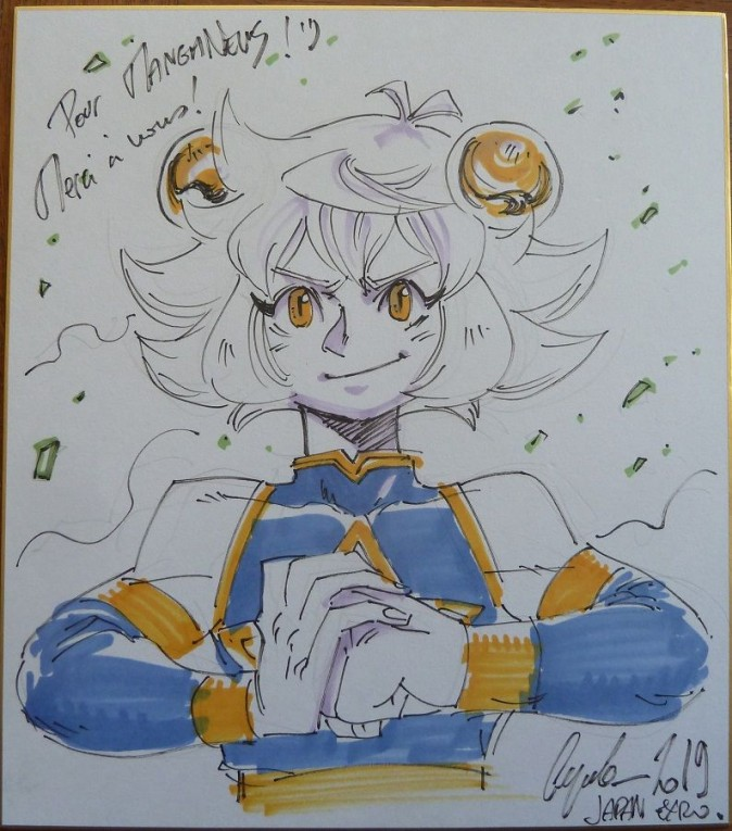 Jeronimo Cejudo - Lil'berry, dessin sur shikishi