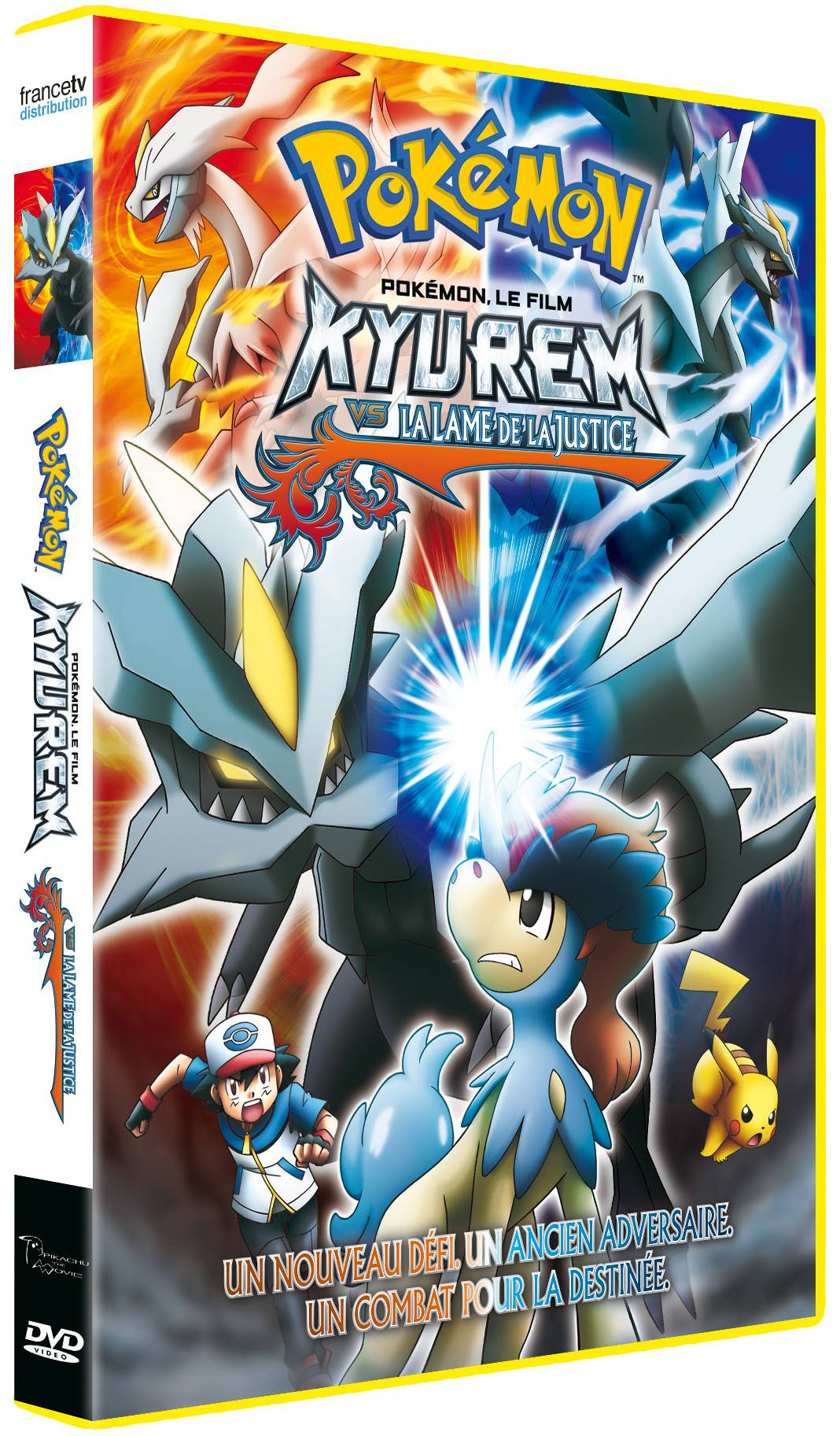 Kyurem VS la lame de la justice, sortira en DVD le 21 août 2013 chez France TV.
