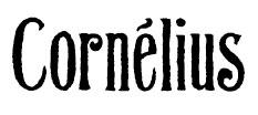 éditeur mangas - Cornelius