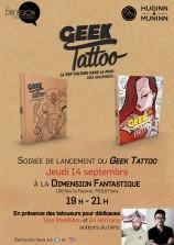 mangas - Geek Tattoo - Soirée de lancement