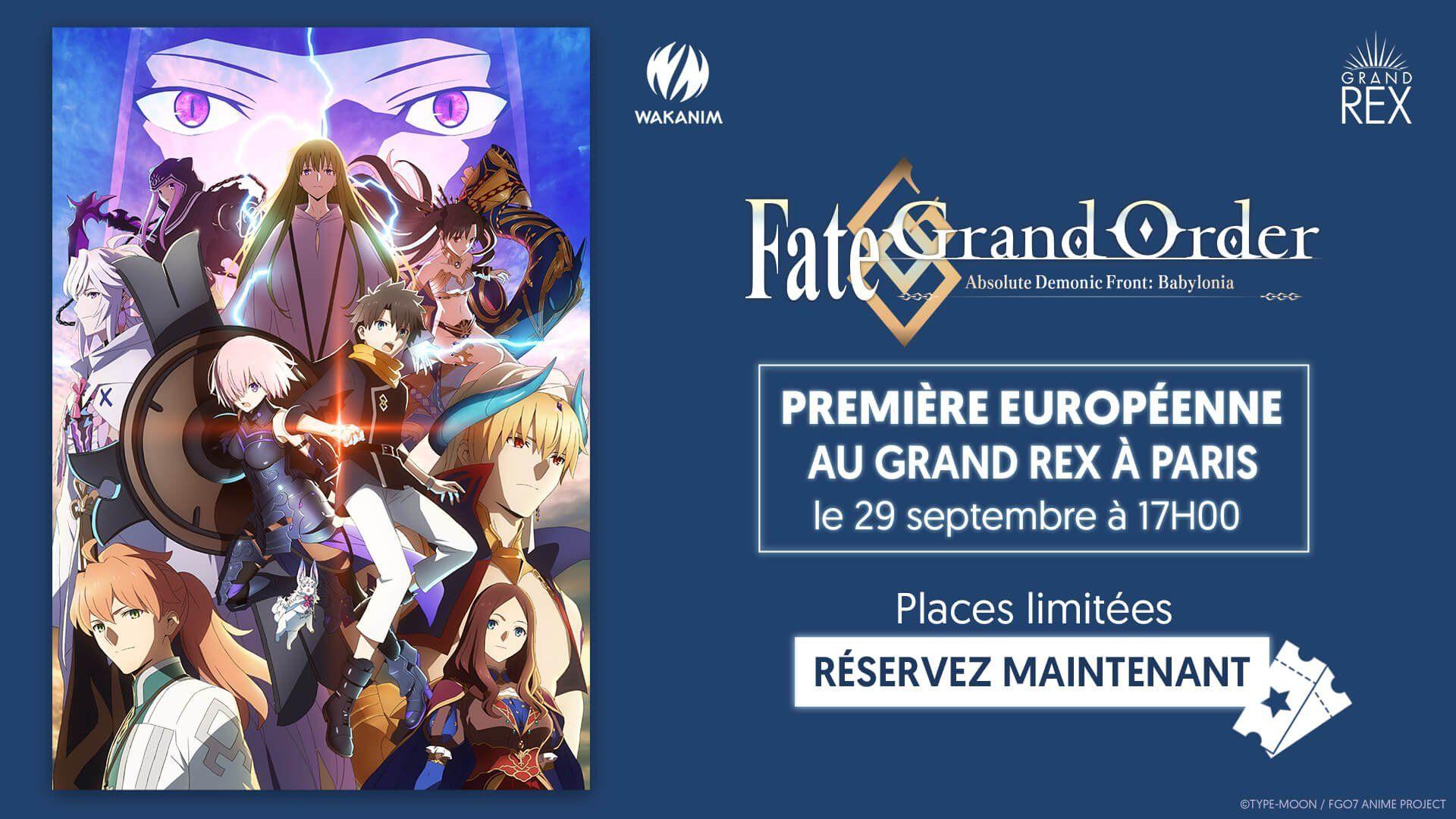 Les trois premiers épisodes de la série animée Fate/Grand