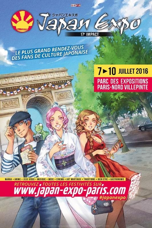 Japan expo 2016 l 39 affiche d voil e 22 mars 2016 manga for Salon du manga paris juillet