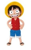 One Piece - Peluche Bean-bag Luffy - Groupe Jemini