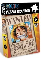 One Piece - Puzzle 100 Pièces Wanted Luffy - Obyz