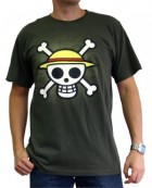 One Piece - T-shirt Skull With Map Kaki Homme - ABYstyle