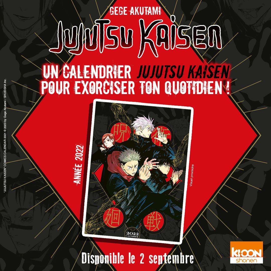 Calendrier Manga 2022 Un calendrier Jujutsu Kaisen chez Ki oon, 18 Juin 2021   Manga news