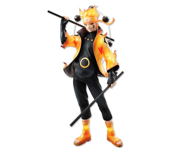 En effet, le célèbre ninja de Konoha est ici présenté dans son Mode Ermite  Rikudô, brillant d\u0027une aura orangée et d\u0027un rosaire de chakra dans son dos.