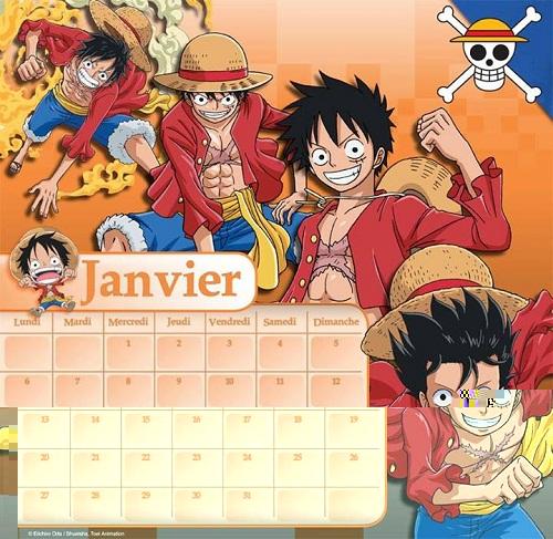 Goodie Calendrier One Piece 2014 Manga News