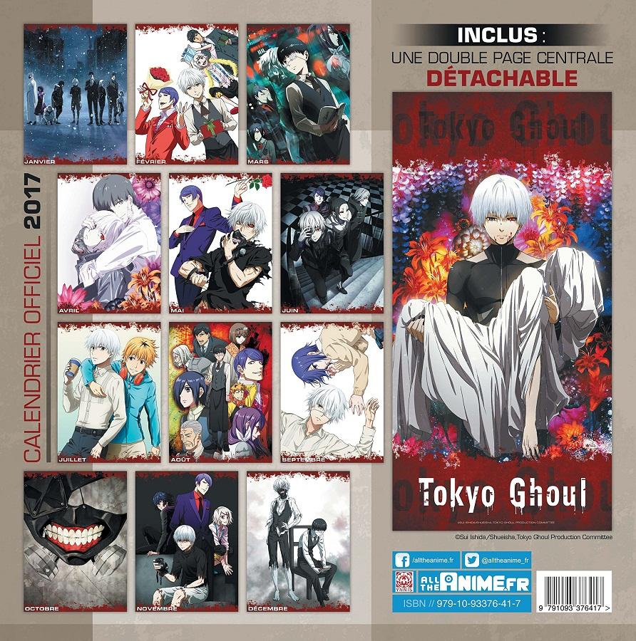 Special Illustration Calendar Tokyo Ghoul : Goodie tokyo ghoul calendrier ynnis manga news