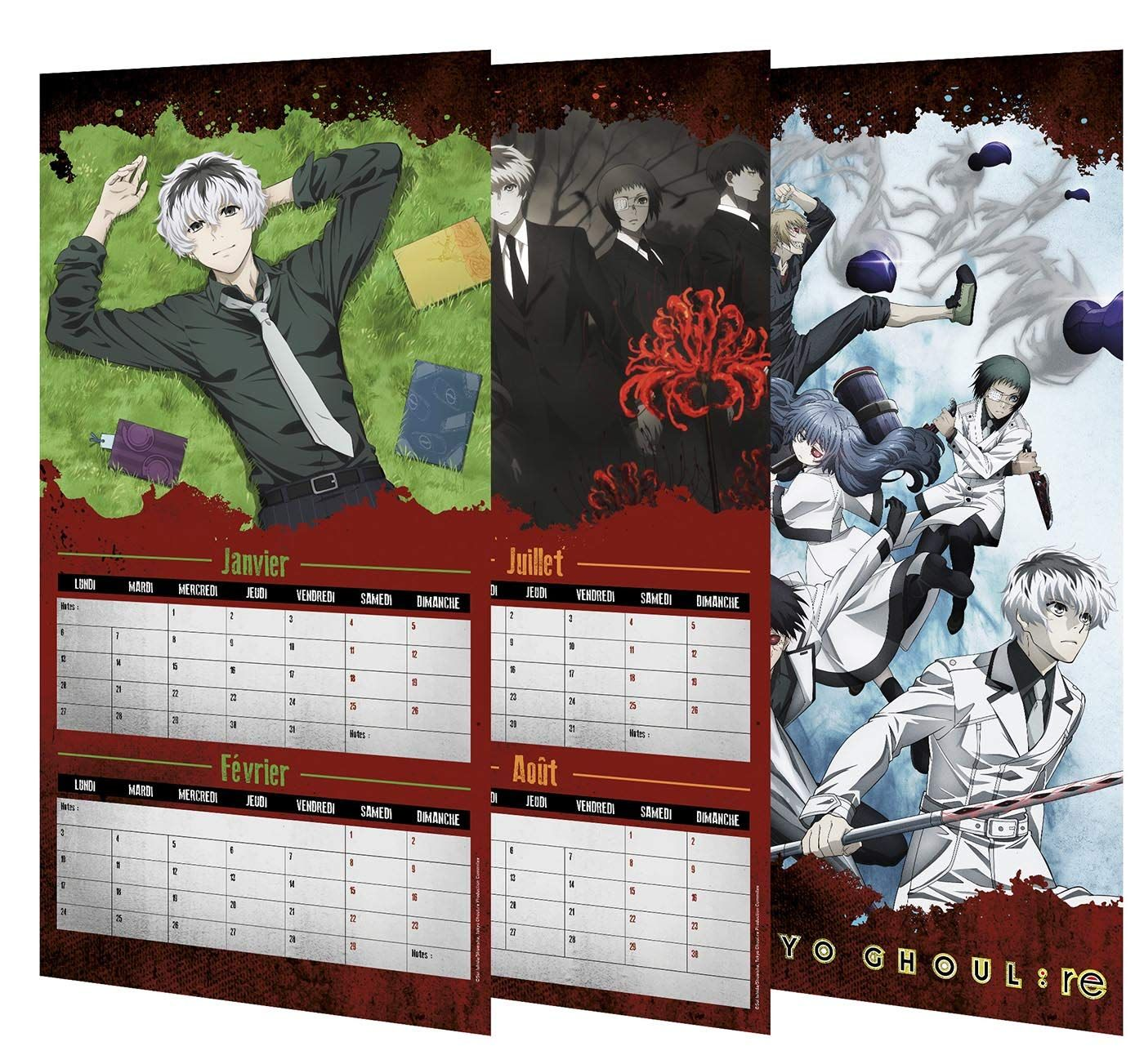 Calendrier Manga 2020.Goodie Tokyo Ghoul Re Calendrier 2020 Ynnis Manga News