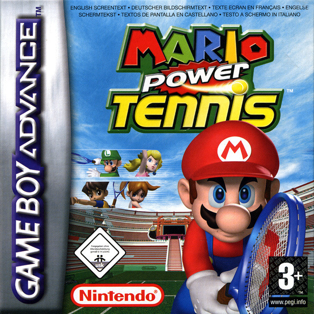 jeu vid o mario power tennis game boy advance gba manga news. Black Bedroom Furniture Sets. Home Design Ideas