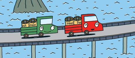 Le petit camion rouge rencontre le petit camion vert chez nobi nobi!