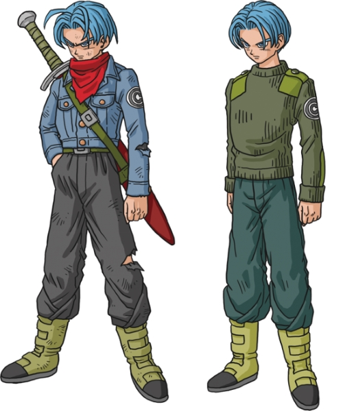Dragon ball super anime chara trunks