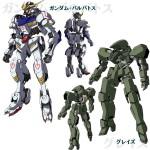 Gundam tekketsu no orphans anime import mechas