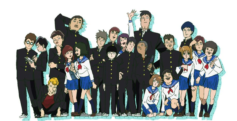 Mob psycho 100 anime visual 1