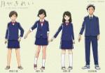 Tsuki ga kirei anime character 1