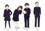 Tsuki ga kirei visuel characters