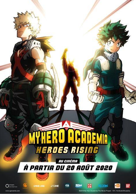 My hero academia film 2 heroes rising affiche fr
