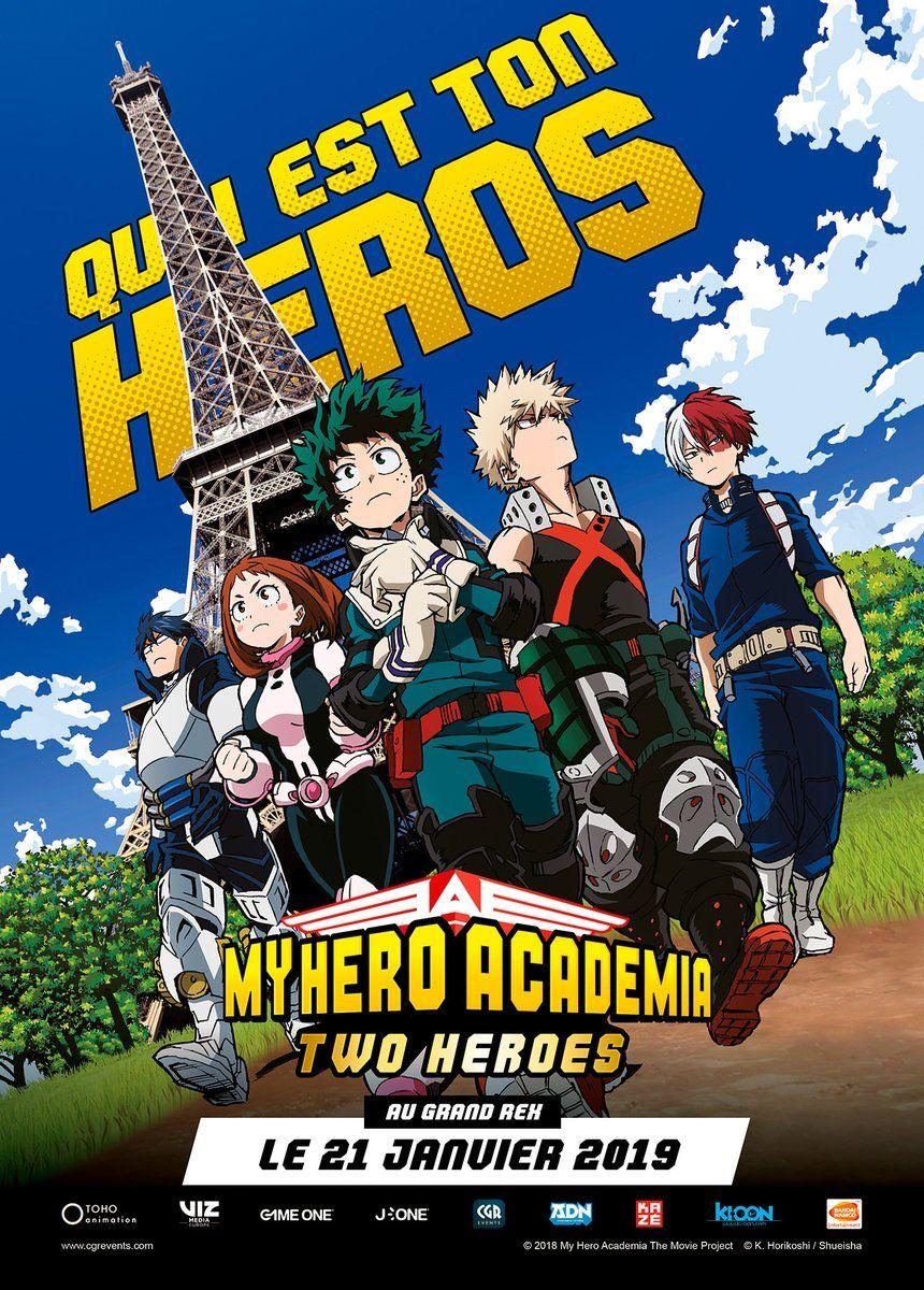 My hero academia two heroes avp grand rex
