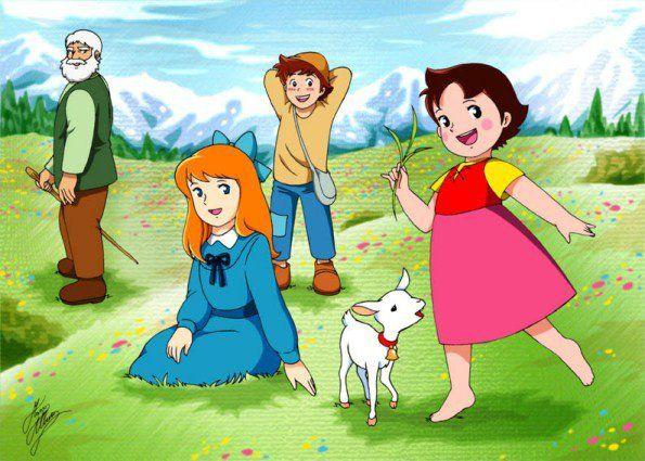 Heidi anime nippon animation visual 1