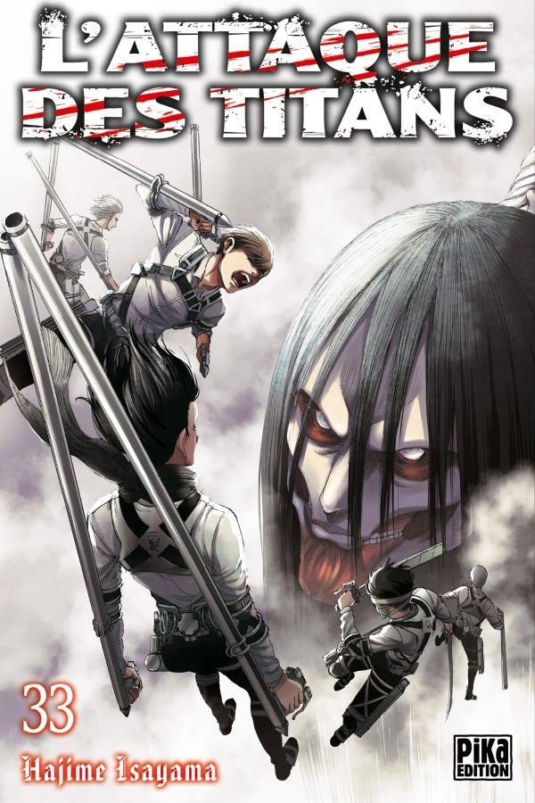 Sortie Manga au Québec JUILLET 2021 Attaque-titans-33-pika
