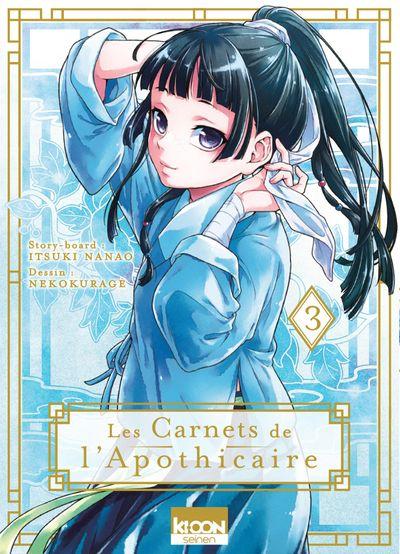 Sortie Manga au Québec JUIN 2021 Carnet-apothicaire-3-kioon