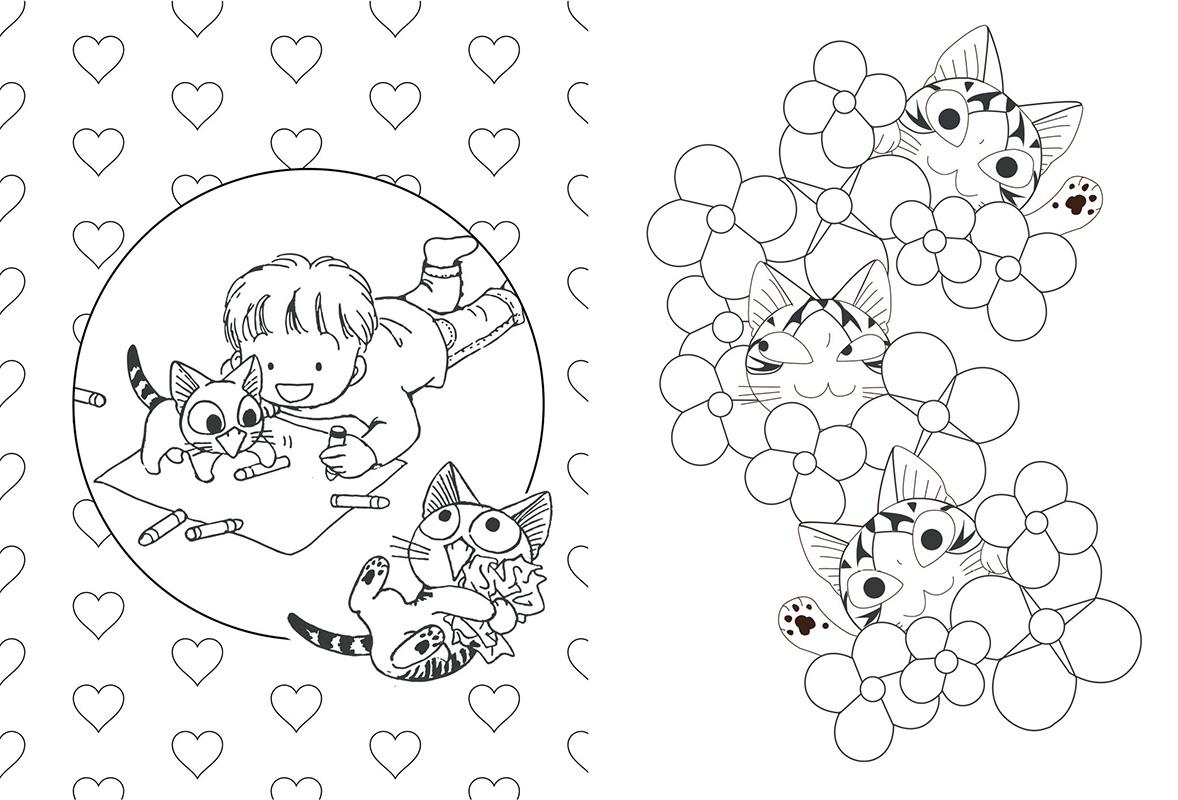 Chi une vie de chat ze colorie manga manga news - Imprimer manga ...