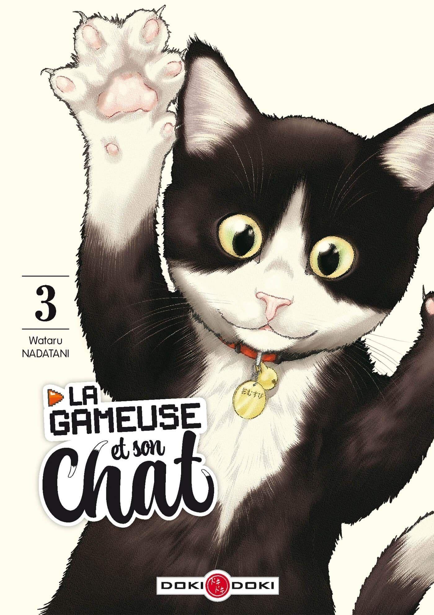 Sortie Manga au Québec JUIN 2021 Gameuse_et_son_chat_3_doki